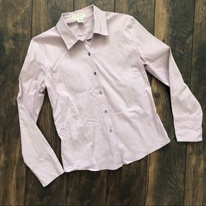 Banana Republic Lilac button front SZ S
